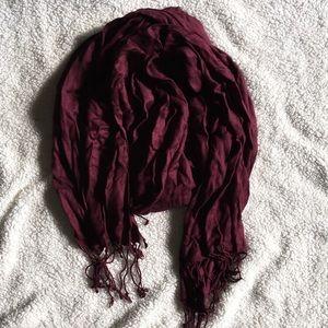 NWOT Maroon scarf